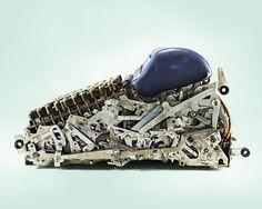 Old mechanical calculator