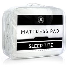 Malouf Sleep Tite Gelled Microfiber Damask Stripe Mattress Pad
