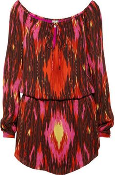 ShopStyle: Haute Hippie Ikat-print silk dress