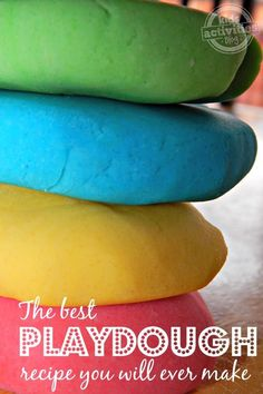 For kids goody bags: When you make your own playdough with the best playdough recipe ever, you get way more dough for your money. Plus, this homemade playdough is so soft. Craft Activities For Kids, Toddler Activities, Projects For Kids, Diy For Kids, Indoor Activities, Sensory Activities, Kid Activites, Toddler Learning, Motor Activities