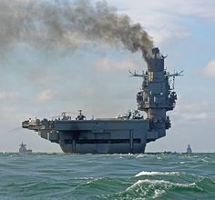 Russian aircraft carrier Admiral Kuznetsov in the English Channel  © EPA/DOVER MARINA.COM/HANDOUT
