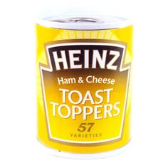 Heinz Toast Toppers Ham and Cheese. Dad loved these horrid little tins.