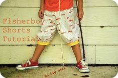 I will be bringing home my guest post tutorials over the course of bringing home my baby.  Fisherboy Shorts are for both girls and boys, sup...