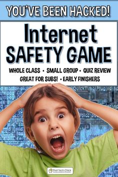 Internet Safety Game - You've Been Hacked! Elementary Computer Lab, Computer Teacher, Classroom Teacher, Gaming Computer, Computer Science, Computer Lessons, Science Classroom, Upper Elementary, Elementary Schools