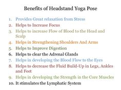 Important Health Benefits of Headstands Yoga Pose.