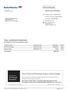 Bank Of America Statement Template . 25 Bank Of America Statement Template . Bank Statement Bank America In 2019 Money Template, Bill Template, Card Templates, Payroll Template, Invoice Template, Templates Free, Passport Template, Letter Templates, Income Statement