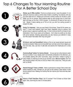 Top 6 Changes To Your Morning Routine For A Better School Day    #studytips #Mornings