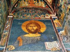 Freska Hrist Pantokrator Manastir Decani