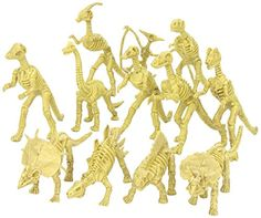 Assorted Dinosaur Fossil Skeleton Toys - 6-7 Inch Figures -12 Piece- For Kids, Boys, Girls, Pretend, Play Time, Games, Party, & Prizes - Kidsco...