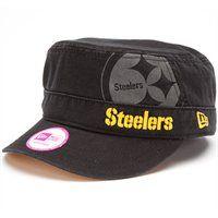 New Era Pittsburgh Steelers Ladies Goal-To-Go Military Adjustable Hat - Black Steelers T Shirts, Steelers Football, Steelers Stuff, Football Gear, Football Baby, Pittsburgh Steelers Merchandise, Steeler Nation, Military Fashion, Military Style