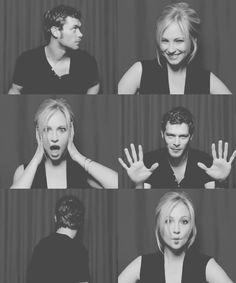 Caroline Forbes x Klaus, Candice Accola x Joseph Morgan