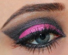 Hot Pink Smoky Eye