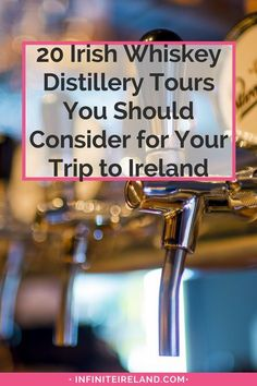 When doing research for our next trip to Ireland, I knew I wanted to visit an Irish Whiskey Distillery. I found the top 20 distilleries to visit in Ireland. Jameson Irish Whiskey, Irish Whiskey Brands, Whiskey And You, Baileys Irish, Whisky, Whiskey Distillery, Ireland Vacation, Ireland Travel, Backpacking Ireland