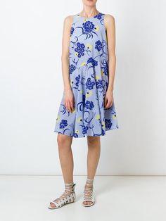 P.A.R.O.S.H. расклешенное платье с цветочным принтом