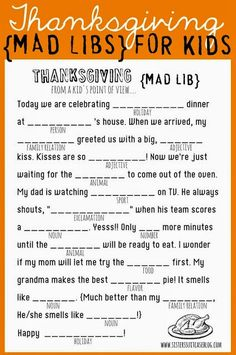 Sassy Style: 20 Thankgiving ideas for kids