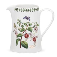 The small Portmeirion Botanical Garden Small Airtight Canister is a airtight canister with a fuchsia flower motif. This dishwasher-safe canister. Tabletop, Portmeirion Pottery, Portmeirion China, William Ellis, Kitchen Canister Sets, Kitchen Dishes, Kitchen Tools, Kitchen Ideas, Jar Storage