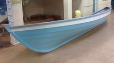 Lovely blue St Ayles skiff again