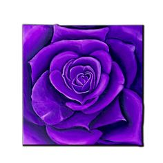 PURPLE ROSE - TEXTURED ACRYLIC ON CANVAS