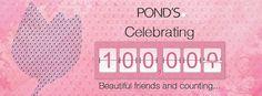 #Congratulations #Pond's on 100,000 #Beautiful #Friends!