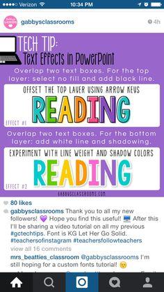 Font tip from Instagram