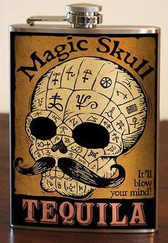 Magic Skull Tequila Flask - FTGS