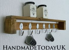 Handmade Rustic Industrial Shelf Unit Pallet by HandmadeTodayUK