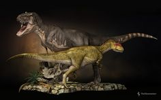 T-Rex compared to Allosaurus by ~Swordlord3d on deviantART