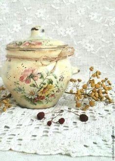 Kitchen handmade.  Fair Masters - handmade pot Summer bouquets for the kitchen and garden.  Handmade.