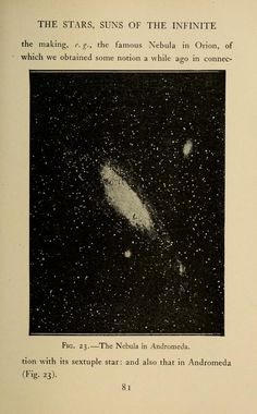 """""""The Nebula in Andromeda."""" 1904 Astronomy for amateurs, Flammarion, Camille"""