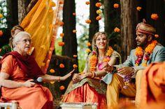 Cinema Wedding, Wedding Sets, Woodland Wedding, Rustic Wedding, Indian American Weddings, Outdoor Indian Wedding, Hindu Wedding Ceremony, Fairytale Weddings, Celebrity Weddings