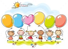 Buy Colourful Balloons by katya_dav on GraphicRiver. Colourful balloons with s copy space Art Drawings For Kids, Drawing For Kids, Cute Drawings, Art For Kids, Friends Clipart, Best Birthday Wishes, Colourful Balloons, Art Graphique, Cute Images