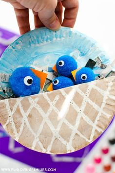 Paper Plate Bird Nest Easy Kids Craft for Spring