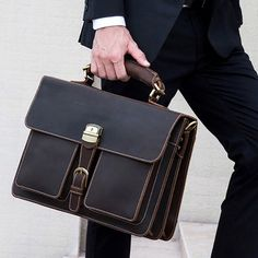 Wall Street Leather Briefcase – Bag World Work Purse, Work Tote, Briefcase For Men, Leather Briefcase, Wall Street, Leather Suitcase, Leather Bags Handmade, Cow Leather, Pink Leather