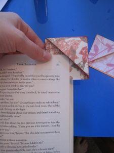 Use leftover scrapbook paper to make a corner bookmark. #DIY #Craft