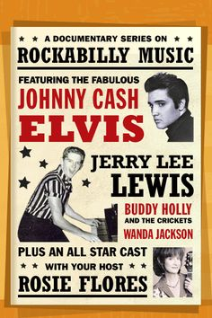 An early rockabilly poster. Johnny And June, Johnny Cash, Rock Posters, Band Posters, Event Posters, Movie Posters, Elvis Presley, Pin Ups Vintage, Genre Musical