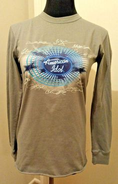 American Idol L Shirt Gray Kellogg's Youth Pop Tarts Tee White Blue #Kellogs #Everyday