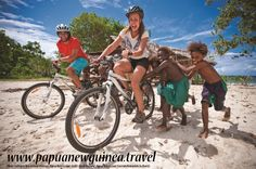 """Cycle New Ireland Province: """"Cycling in New Ireland is ideal for those looking for a cheap, eco-friendly way to experience the charms of village life and the natural beauty of Papua New Guinea's islands."""" ~Inga Ting, Sydney Morning Herald Travel   Read more: http://www.bendigoadvertiser.com.au/story/2836312/papua-new-guinea-cycling-tour-this-is-not-the-tour-de-france/?cs=34"""