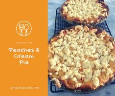 I'm the pincook - Recipes Peach Cream Pies, Summer Time, Sweets, Cooking, Blog, Recipes, Peach Custard Pies, Daylight Savings Time, Sweet Pastries