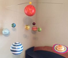 Pottery Barn Kids Planet Solar System Mobile Hand Painted Excellent | eBay