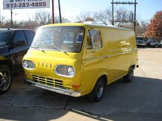 1964 FORD ECONOLINE VAN in splendid yellow (from photo set of whole restoration)