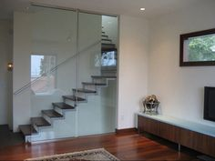Glossy Build In Staircase