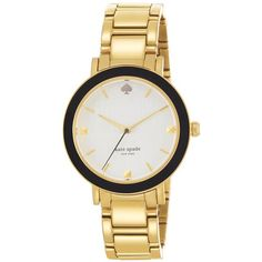 KATE SPADE NEW YORK Ladies' Gramercy Black Enamel & Steel Watch