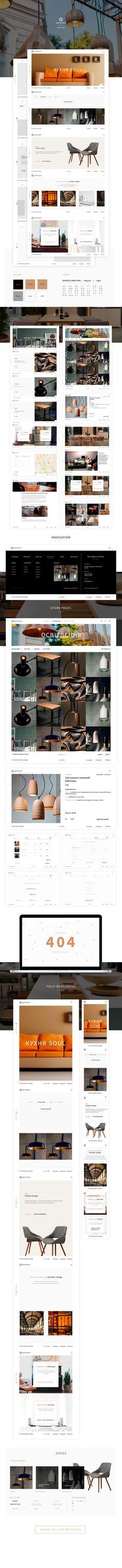 Artefact design - fullpage website, online shop on Behance