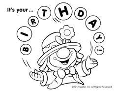 funny birthday coloring pages | Cute print & color birthday cards - Fun for big brother or ...