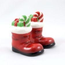 Santa Boot Salt and Pepper Shakers