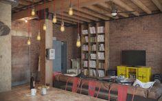 O charme dos tijolinhos aparente: um loft masculino   Casinha colorida#!/2014/02/o-charme-dos-tijolinhos-aparente-um.html