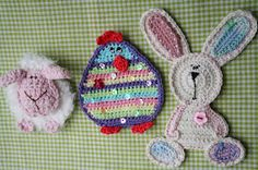Crochet Easter trio