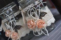 Labels: altered jar, decorated glass jar, door gift, favours, gift, glass ...armalia.blogspot.com