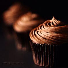 Cupcakes de chocolate y trufa