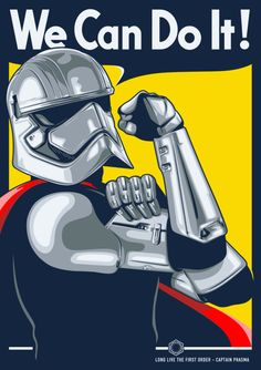 Captain Phasma - Propaganda Poster Various prints available at...